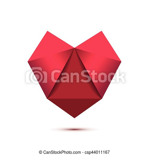 Heart shape symbol isolated on white background - csp44011167