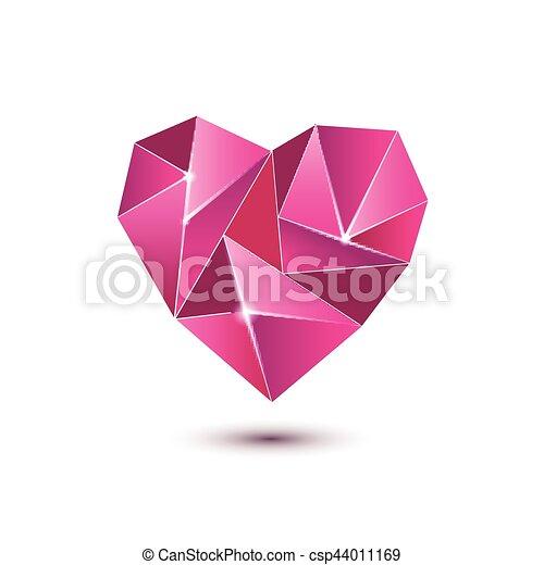 Heart shape symbol isolated on white background - csp44011169