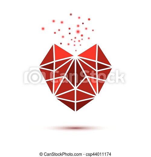 Heart shape symbol isolated on white background - csp44011174