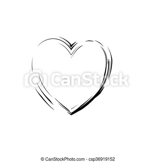 Heart Shape Symbol Love Vector Black Heart Symbol Wedding