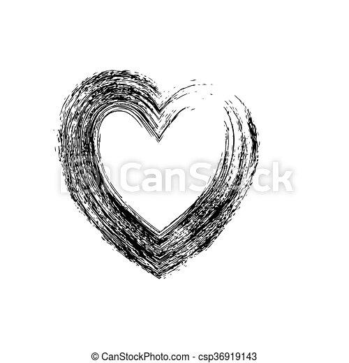 Heart Shape Symbol Love Vector Black Heart Symbol Wedding And