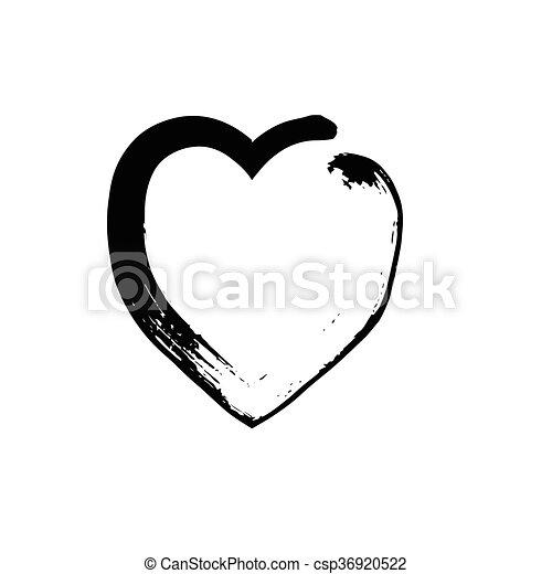Heart Shape Symbol Love Vector Black Heart Symbol Wedding Vector