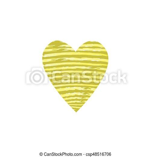 Heart Shape Symbol Of Love Vector Illustration Isolated On
