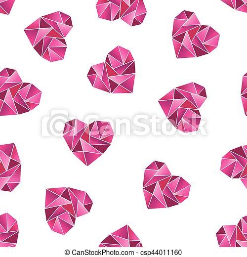 Heart shape symbols isolated on white background - csp44011160