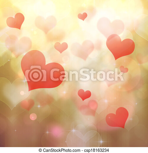 heart shaped bokeh background - csp18163234