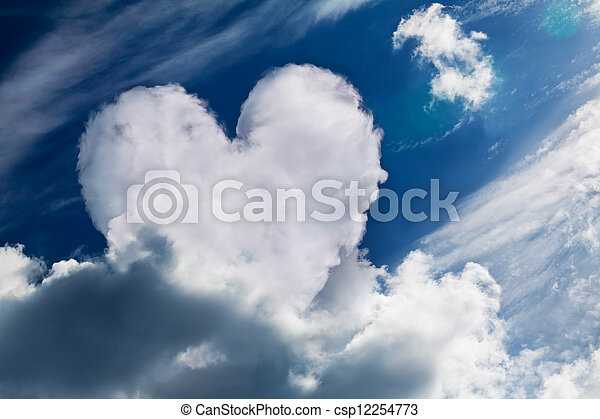 Heart Shaped Cloud Symbol Of Love