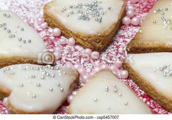 Heart shaped cookies - csp5457007