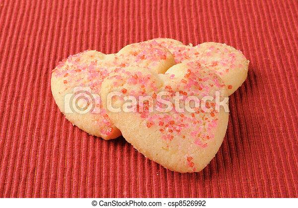 Heart shaped cookies - csp8526992