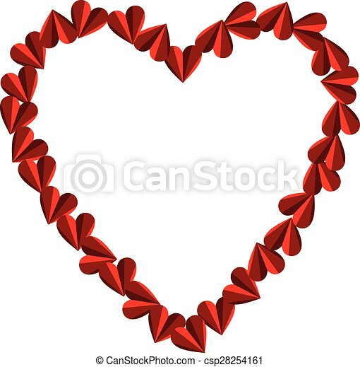 Heart shaped frame. Scalable vectorial image representing a heart ...