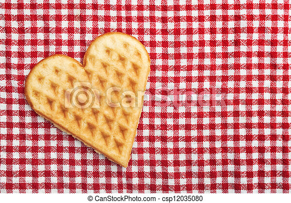 Heart shaped galette cookie - csp12035080