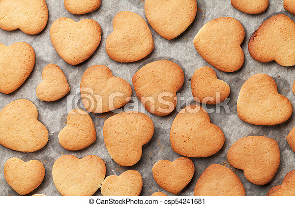 Heart shaped gingerbread cookies - csp54241681