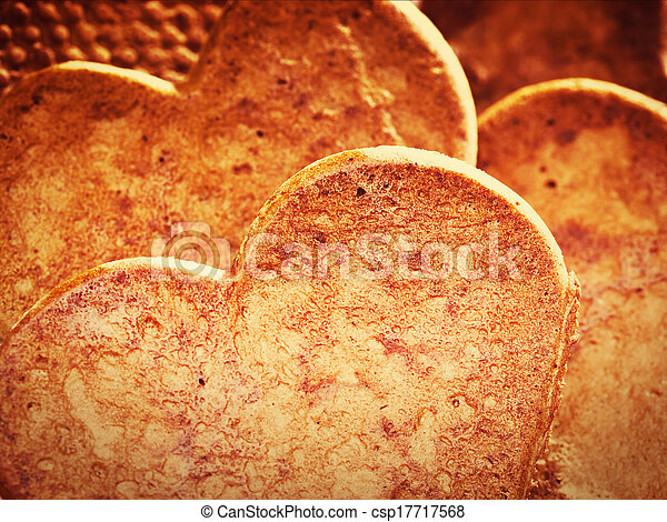 Heart shaped gingerbread cookies - csp17717568
