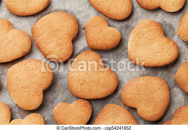 Heart shaped gingerbread cookies - csp54241652