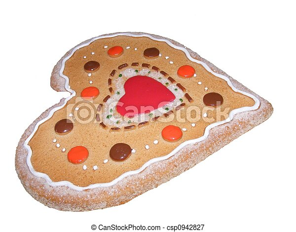 Heart Shaped Gingerbread - csp0942827