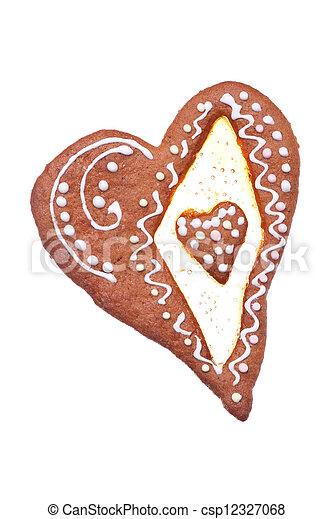 Heart shaped gingerbread - csp12327068