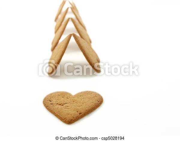 Heart shaped gingerbread - csp5028194