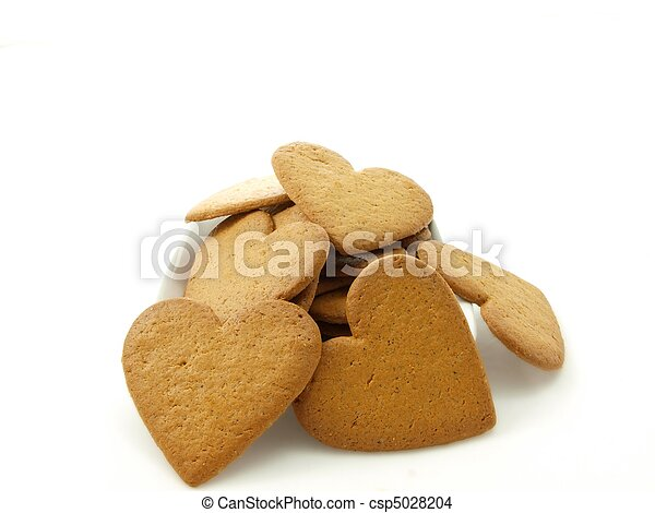 Heart shaped gingerbread - csp5028204
