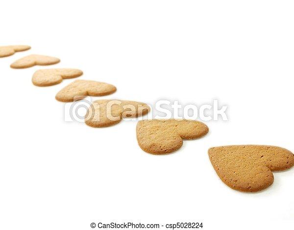 Heart shaped gingerbread - csp5028224
