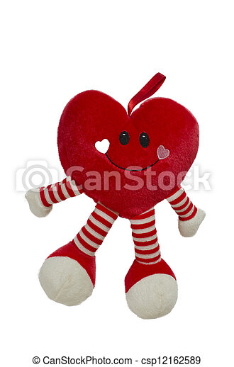 heart shaped toy isolated in white - csp12162589