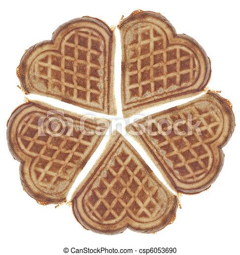 Heart Shaped Waffles - csp6053690