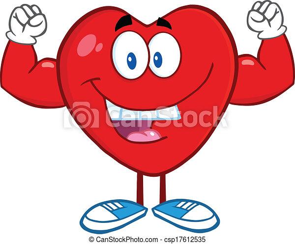 heart showing muscle arms happy heart cartoon mascot vectors rh canstockphoto com Free Sun Graphics Free Cartoon Sun