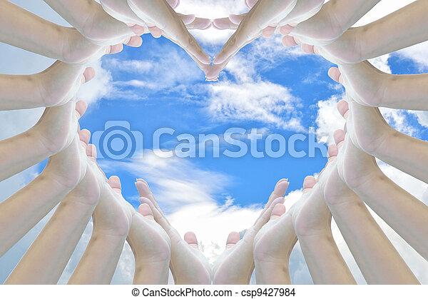 heart sign - csp9427984