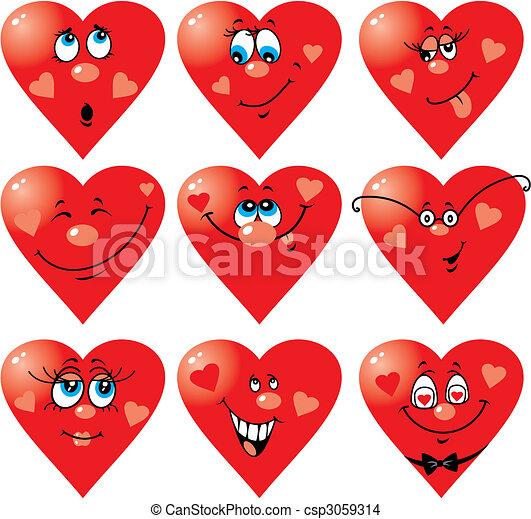 Heart Smiles to Valentine`s day - csp3059314