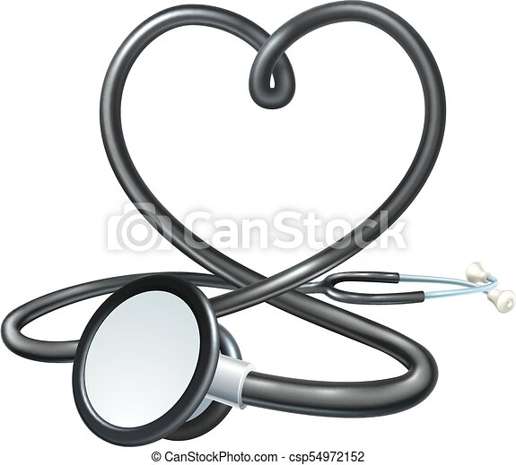 Heart Stethoscope Concept - csp54972152