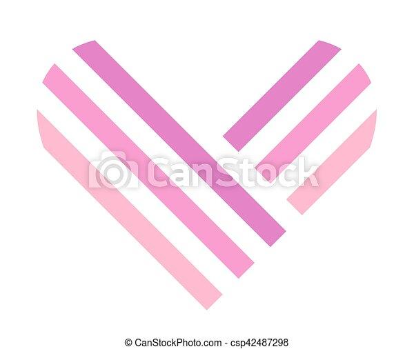 Heart symbol isolated on white background - csp42487298