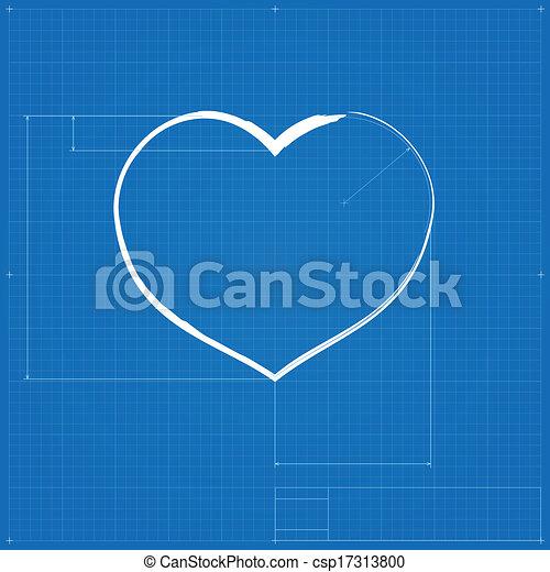 Heart symbol like blueprint drawing stylized drafting of gift sign heart symbol like blueprint drawing csp17313800 malvernweather Image collections