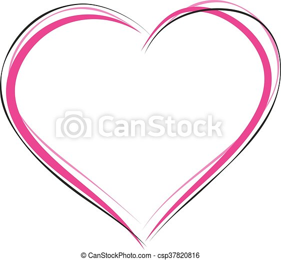 heart symbol of love sign of heart outline illustration in rh canstockphoto co uk red heart outline symbol heart outline symbol in word