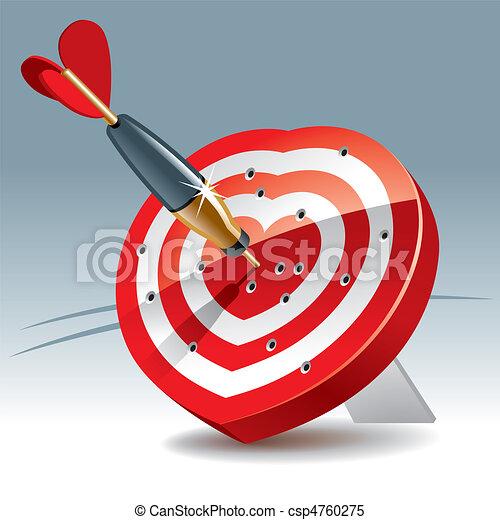 Heart Target - csp4760275