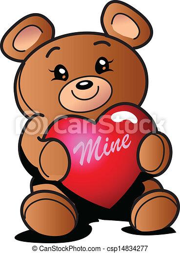 Heart Teddy Bear   Csp14834277