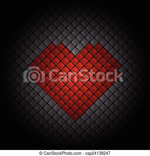 Heart Tile Background