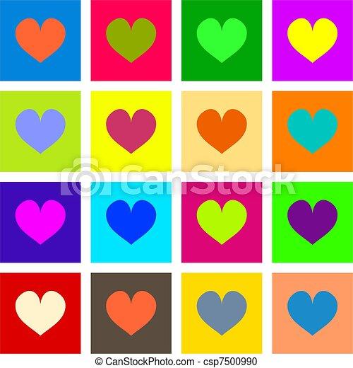 Heart Tiles - csp7500990