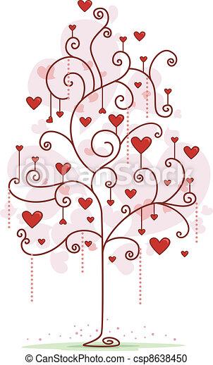 Heart Tree - csp8638450