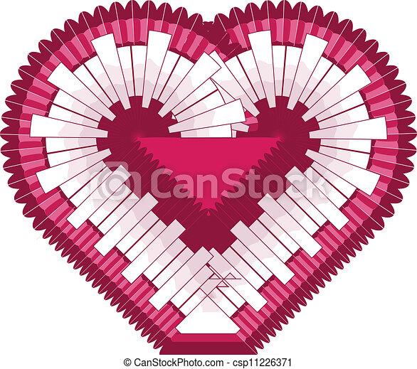 Heart. Vector illustration  - csp11226371