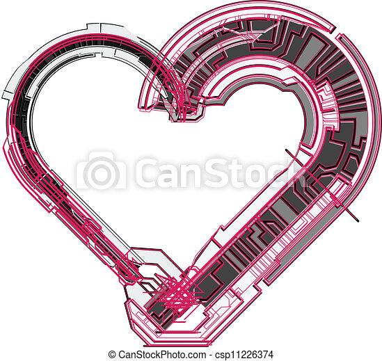 Heart. Vector illustration  - csp11226374