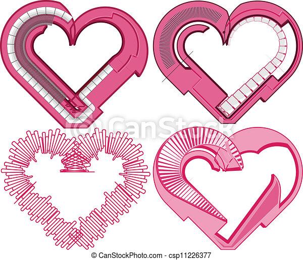 Heart. Vector illustration  - csp11226377