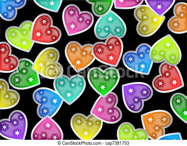Heart Wallpaper Colourful Shapes Forming A Decorative