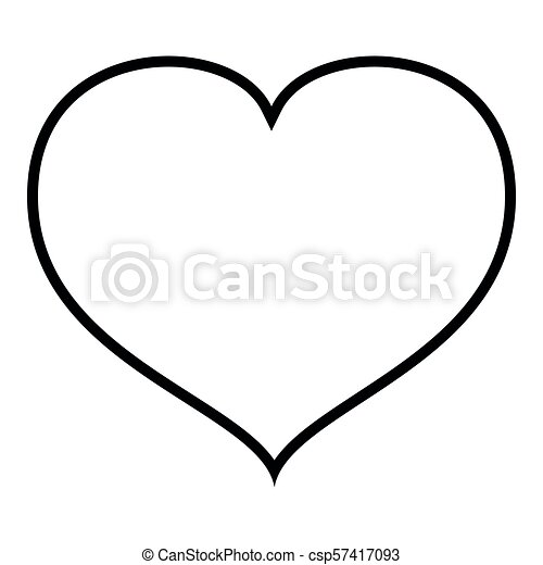 Heart With End Icon Outline Black Color Vector Illustration Flat Style