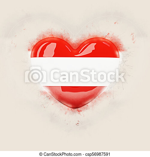 Heart with flag of austria - csp56987591