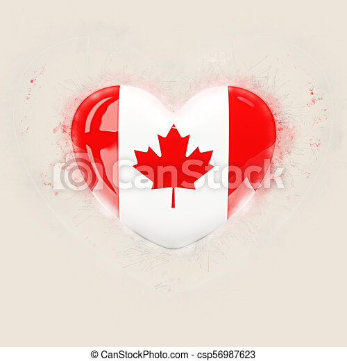 Heart with flag of canada - csp56987623