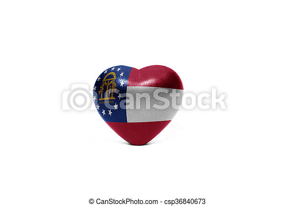 heart with flag of georgia state - csp36840673