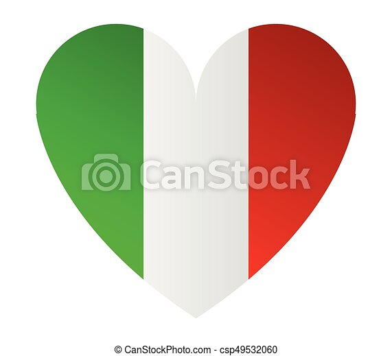 heart with flag of italy - csp49532060
