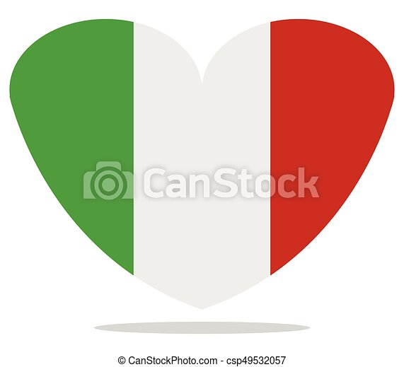 heart with flag of italy - csp49532057