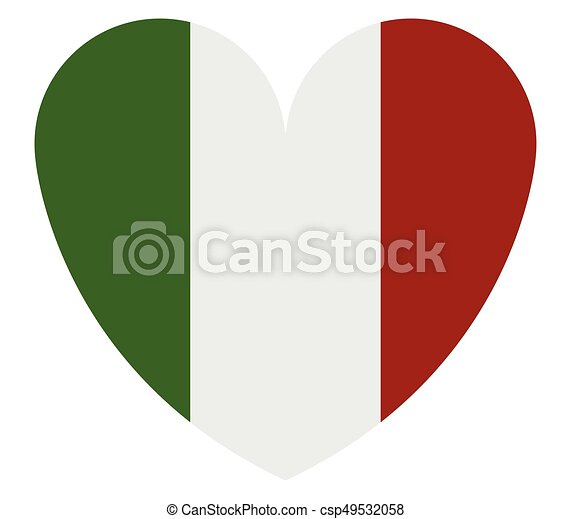 heart with flag of italy - csp49532058