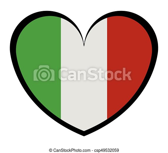 heart with flag of italy - csp49532059
