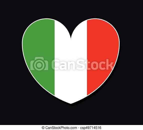 heart with flag of italy - csp49714516