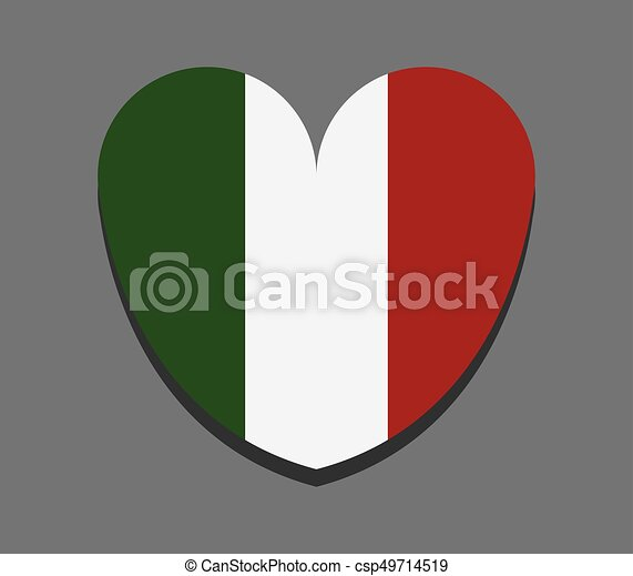 heart with flag of italy - csp49714519